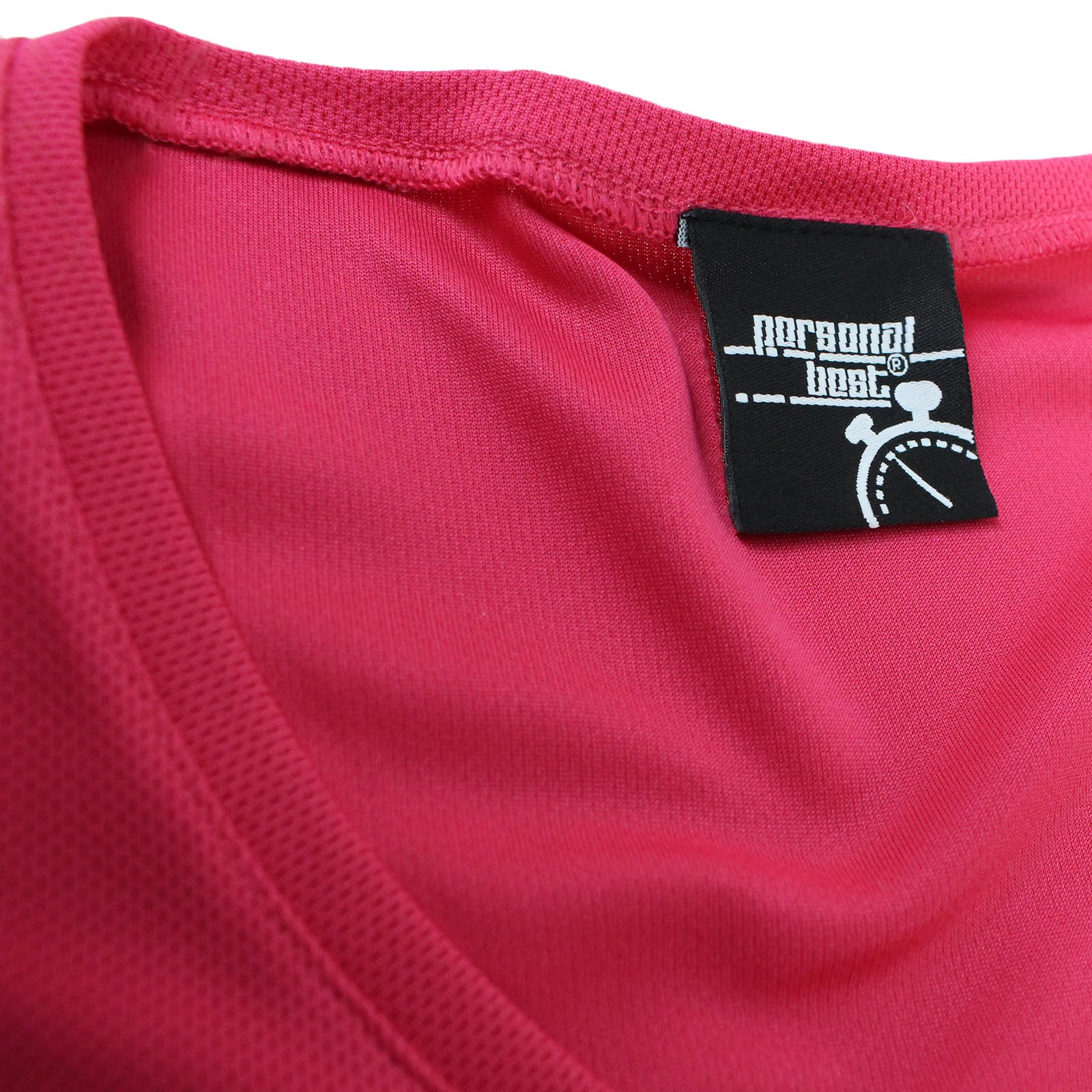 NECK T-SHIRT Dry Fit Breathable Sports V Personal Best Pulse Running