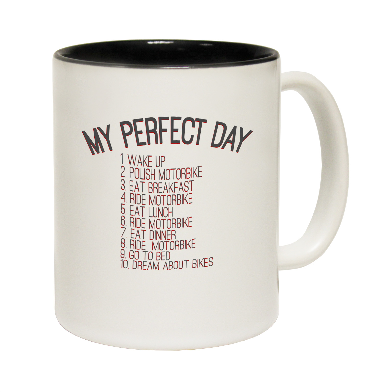 Best Coffee Mugs Funny Mugs My Perfect Day Motorbike Joke Gift