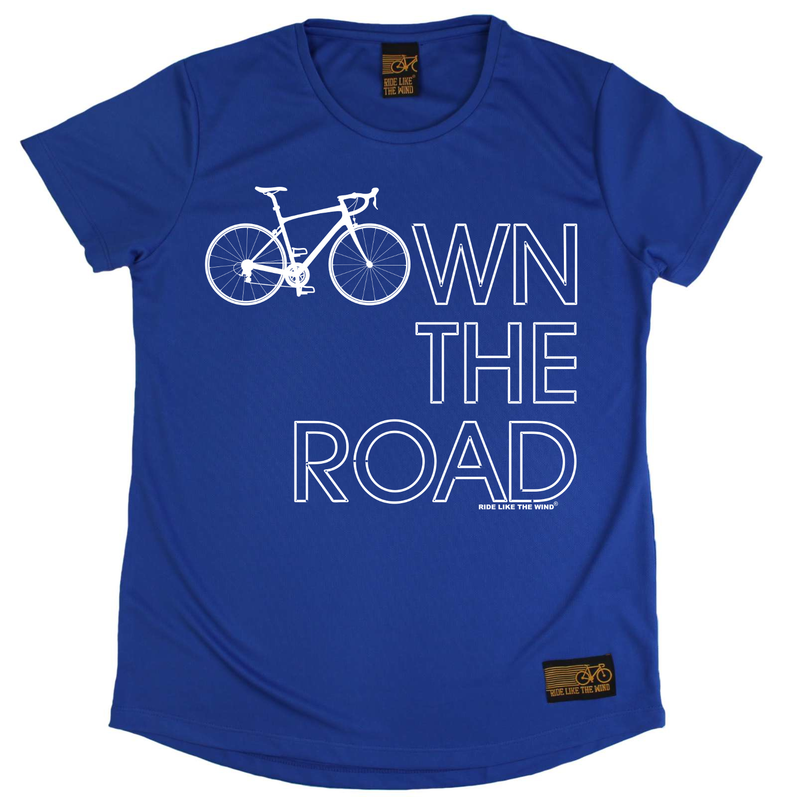 Ladies-Cycling-Own-The-Road-Breathable-sports-T-SHIRT-DRY-FIT-R-NECK-T-SHIRT