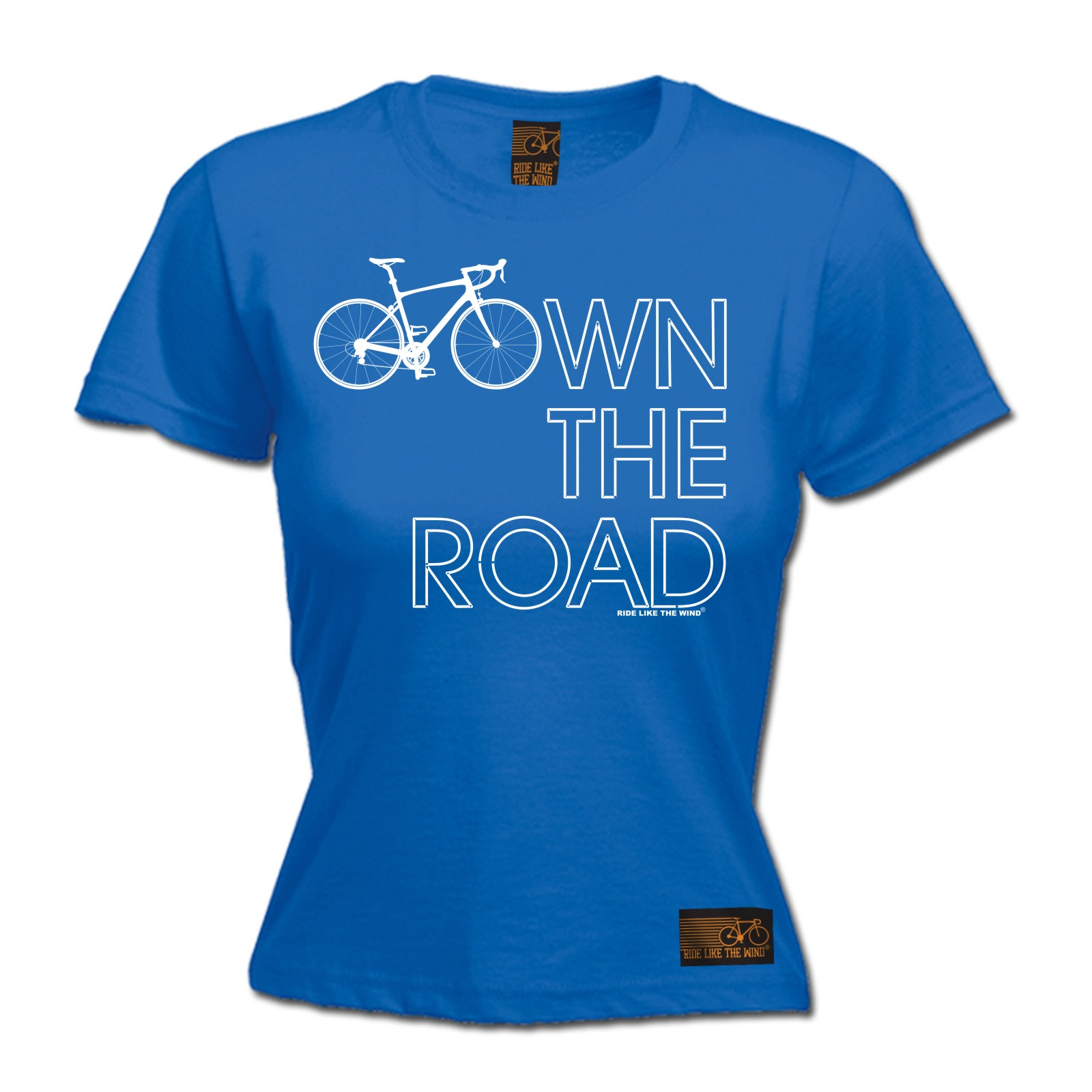 Ladies-Cycling-Tee-Own-The-Road-bicycle-cycle-funny-Birthday-tee-T-SHIRT