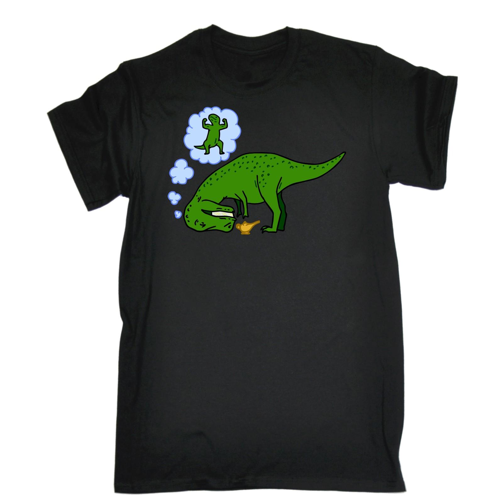 Dinosaur Wish T-Rex Funny Joke Tee T-SHIRT Birthday gift present ...