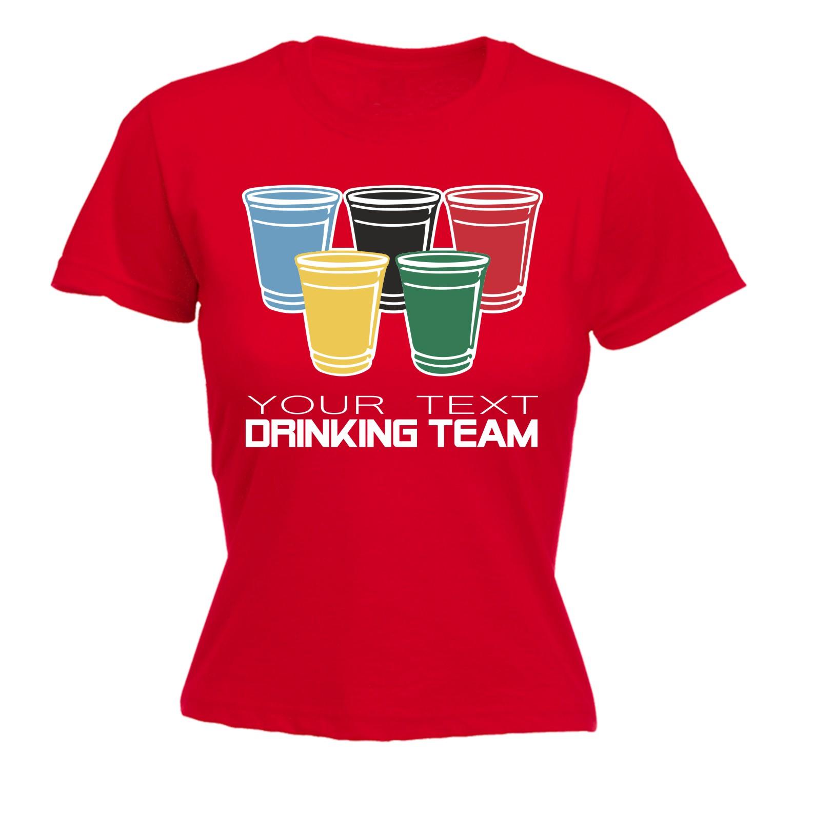 Drinking team your text personalised funny joke bar pub for Custom bar t shirts