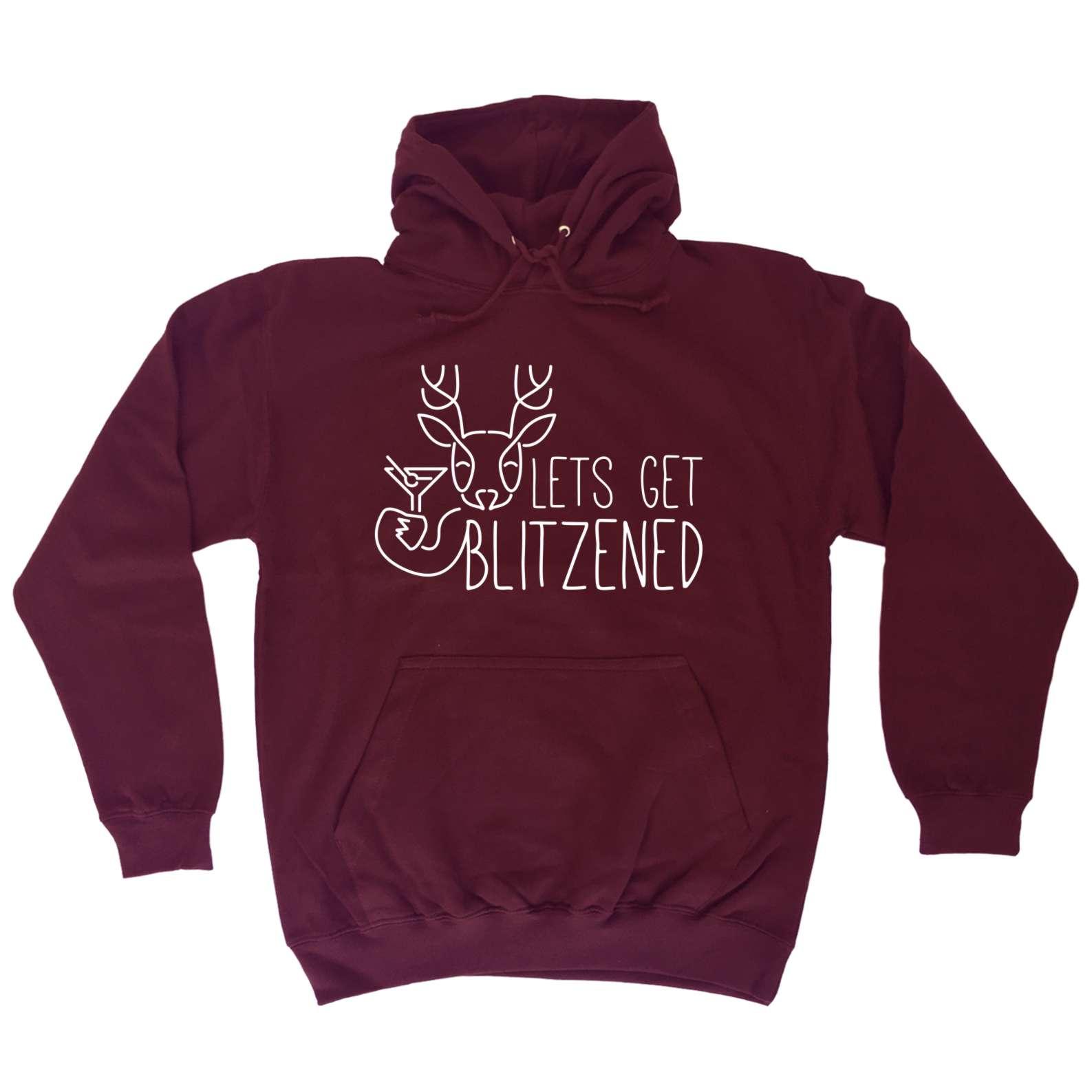 christmas hoodie lets get blitzened x mas funny - Christmas Hoodie