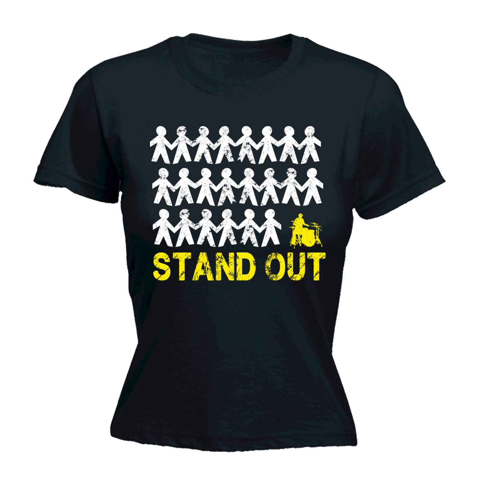 Stand out designs t shirts : Funny joke women s stand out drum drummer band show